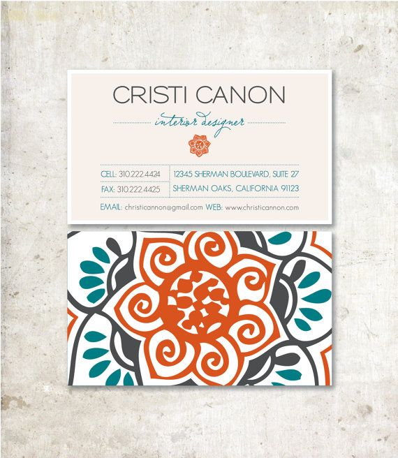 Bold Graphic Calling Cards  100 Printed Business by MielleDesigns