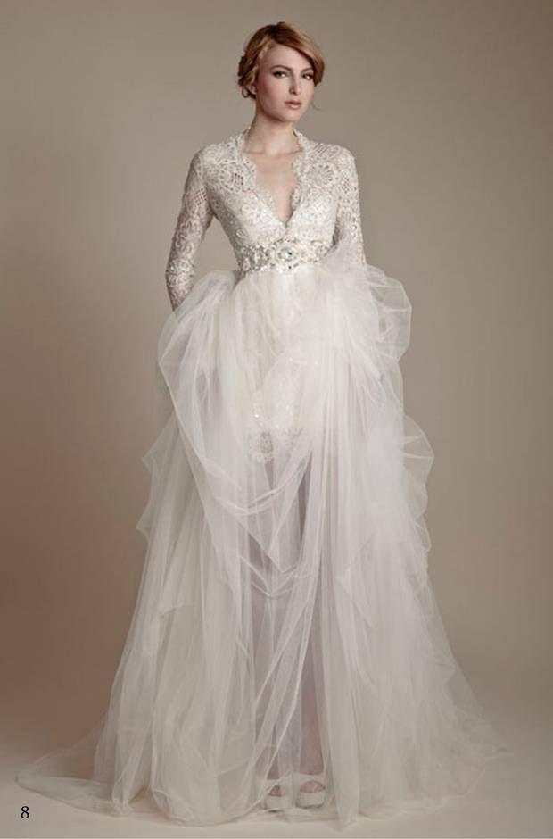 12 Inspiring Long Sleeve Wedding Dresses