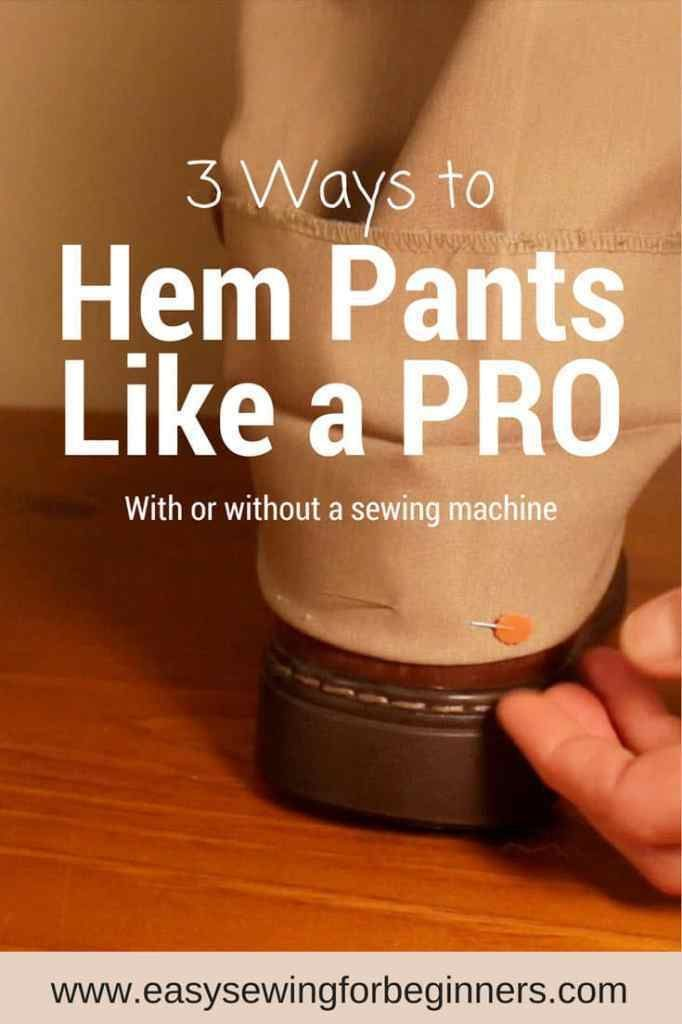 Hemming pants is definitely not one of my favorite things to sew, but I still have to do it now and then. Domenica from Easy Sewing for Beginners shows 3 methods for hemming pants to get the job done