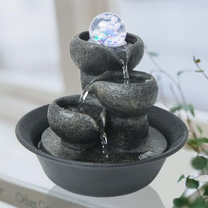 Indoor Fountains Things to Keep in Mind 7 Homemade Water Fountains, Indoor Water Fountains, Indoor Fountain, Garden Fountains, Fountain Ideas, Homemade Waterfall, Outside Fountains, Hanging Planter Boxes, Feng Shui
