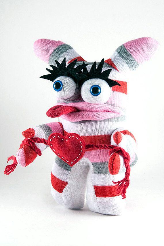 Beatrix the Sock Monster - Valentine's Day gift