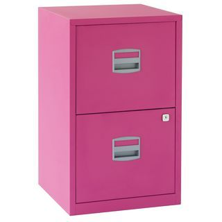 Staples Studio Filing Cabinet 2 Drawer A4 Fuchsia