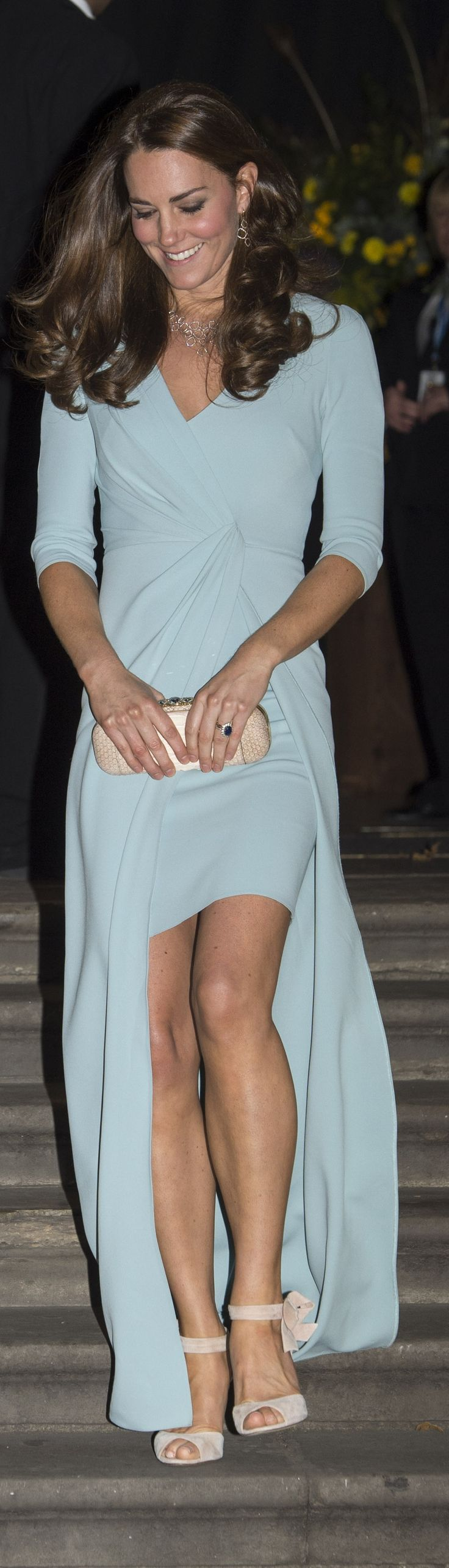 Catherine, Duchess of Cambridge leaves the Natural History Museum after she attended the Wildlife Photographer of The Year 2014 Awards Ceremony on October 21, 2014 in London, England.