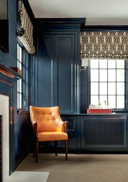 B&W graphic/art nouveau curtains for guest room?