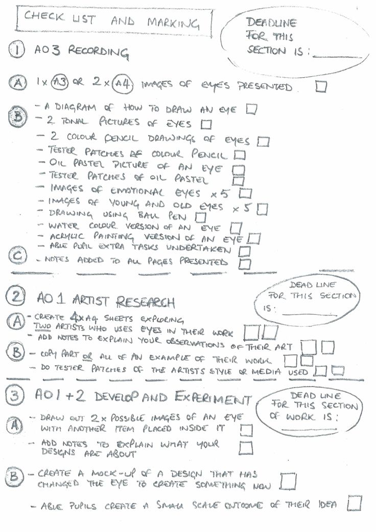 Student support booklet Eyes page 6