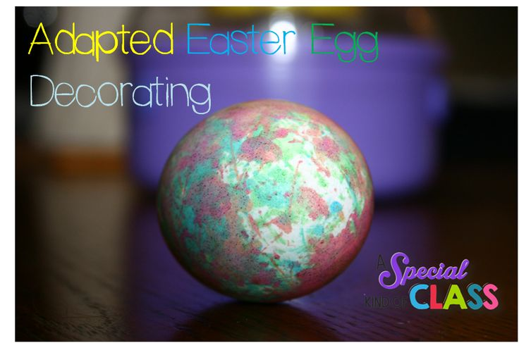 A special kind of class: Adapted Egg Painting