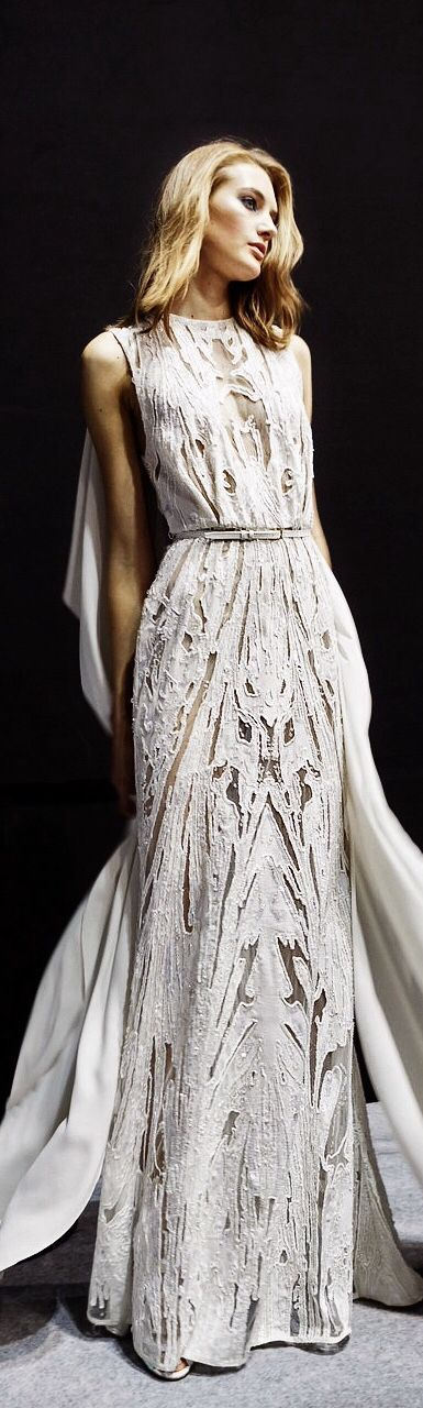 Elie Saab Haute Couture 2015 / The LANE / Wedding Style Inspiration / (instagram @the_lane)