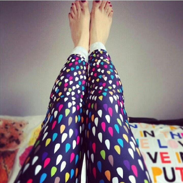 #Uptights raindrop print leggings #Etsy
