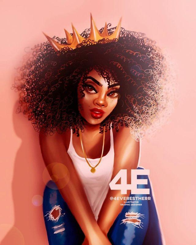Like What You See Follow Me Pin Iijasminnii Give Me More Board Ideass Black Girl Art Natural Hair Art Black Love Art