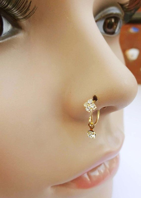 Feather Nose Jewelry Nose Ring Silver Nose Pin Diamond Nose Stud Mother Day Sale