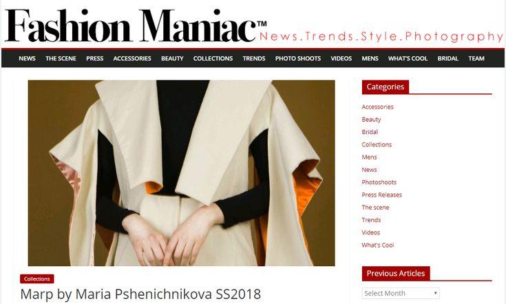 MARP SS18 on Fashion Maniac