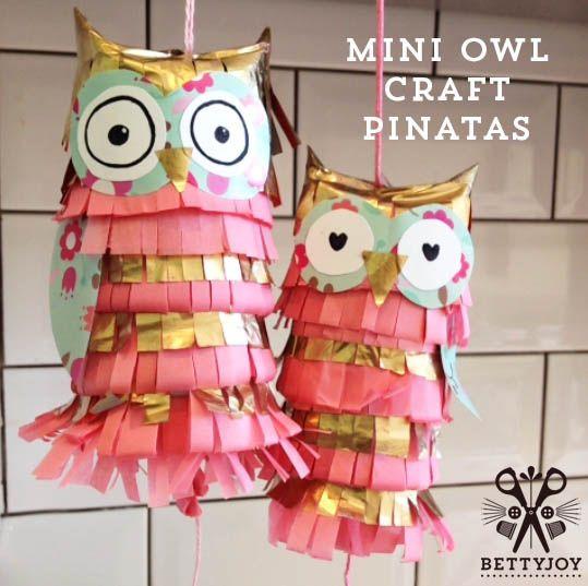 Tutorial - Make a Pinatas - love the owls!