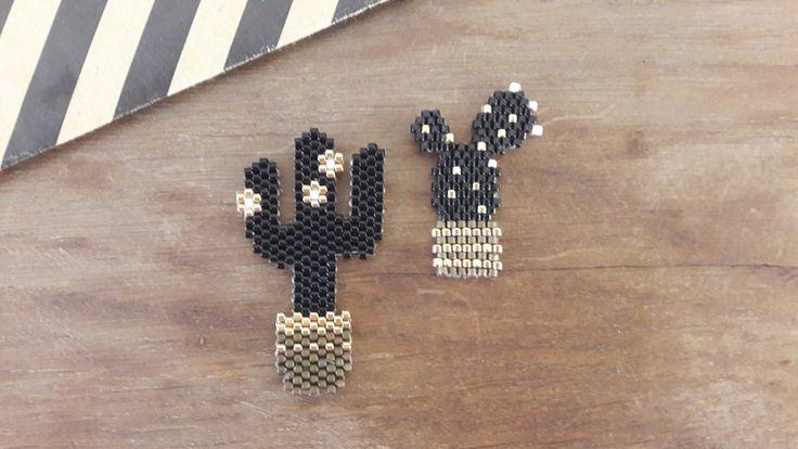 Végétaux : Cactus trop mignon! et si ça vous inspire retrouvez tout le matériel nécessaire sur https://la-petite-epicerie.fr/fr/720-perles-miyuki-brickstitch-peyote-acheter-pas-cher
