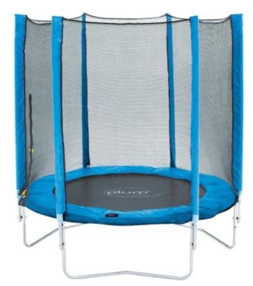 Plum Blue 6ft Trampoline & Enclosure