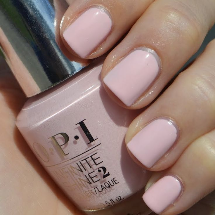 Fall in love in this romantic manicure in pretty pink. See what the OPI Infinite Shine line can give your usual solid manicure. Check out the list of must-haves here.