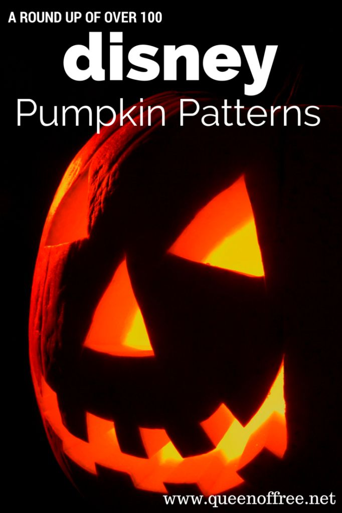 A collection of 100+ Disney Pumpkin Carving Patterns, including Frozen pumpkin carvings and Star Wars pumpkin carvings. Perfect fun for Halloween Decor!