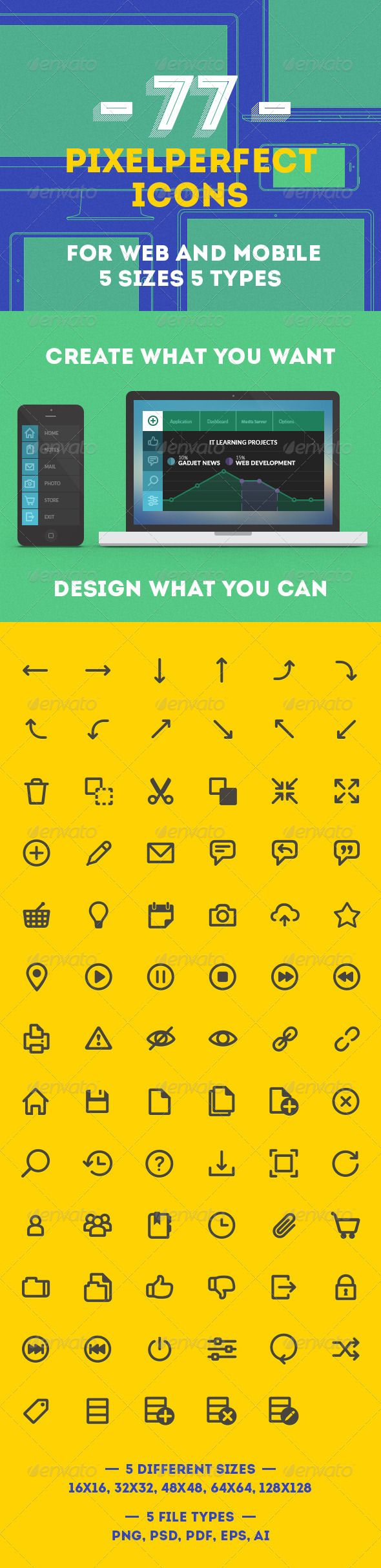 Web and Mobile Icon Package