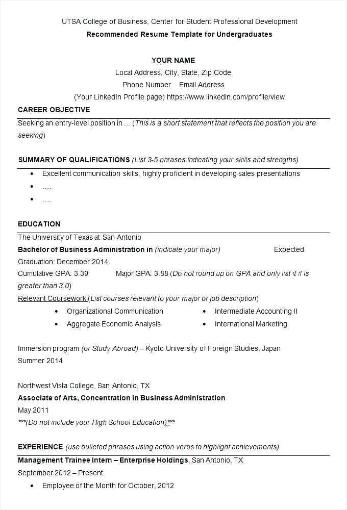 resume examples for business business resume format best of