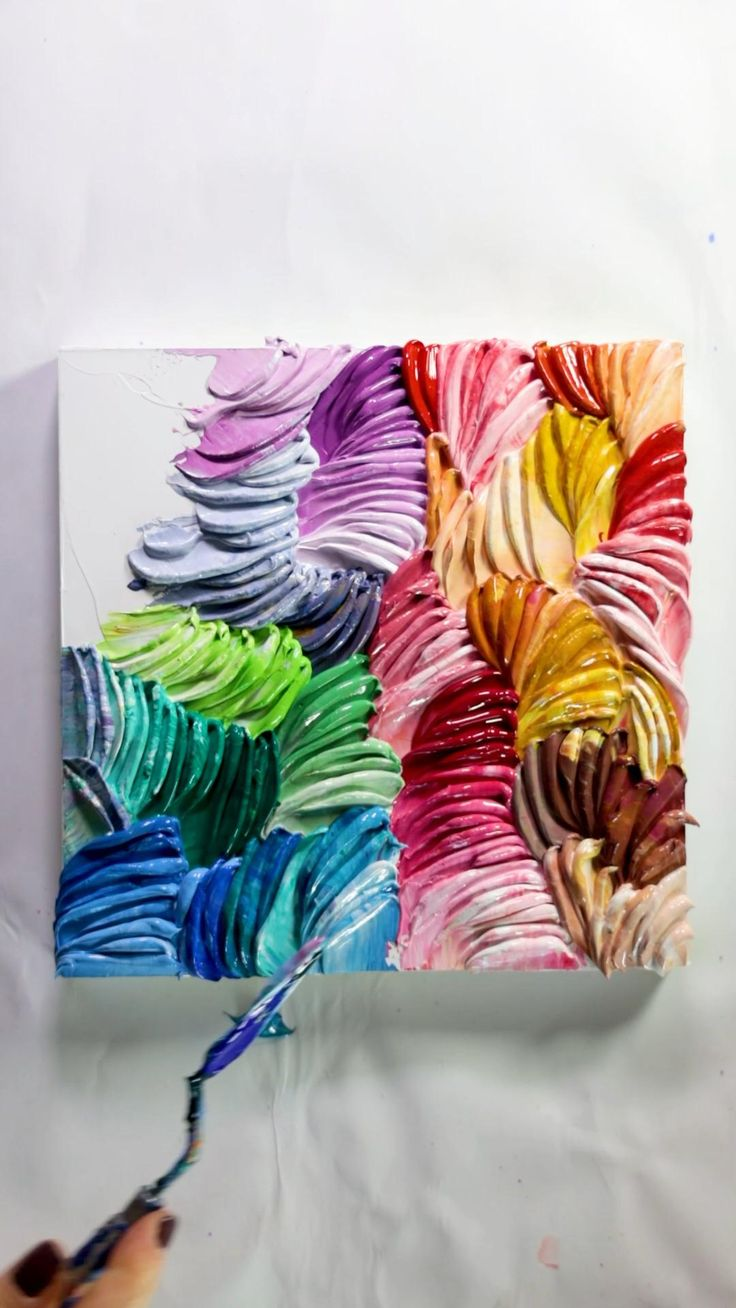 Diy Canvas Art, Elementary Art, Watercolor Flowers Tutorial, Diy Painting, Diy Art, Art Lessons, Colorful Abstract Art, Amazing Art, Art Projects