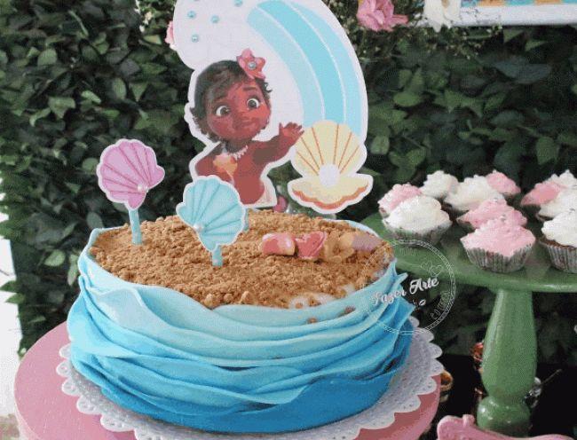 15+ Bolos Decorados da Princesa Moana