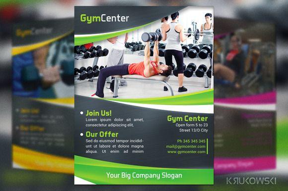 Gym Center Flyer by Krukowski Graphics on @creativemarket