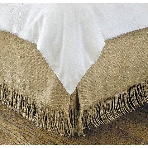 Burlap Bedskirt - Bed Skirt - Rustic Bedskirt - Burlap Bedding - Bedroom Decor - Farmhouse Bedskirt - Burlap Valance - King Size