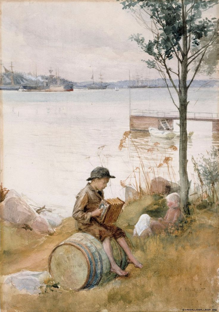 Finnish National Gallery - Art Collections - Serenad vid strandsbredden