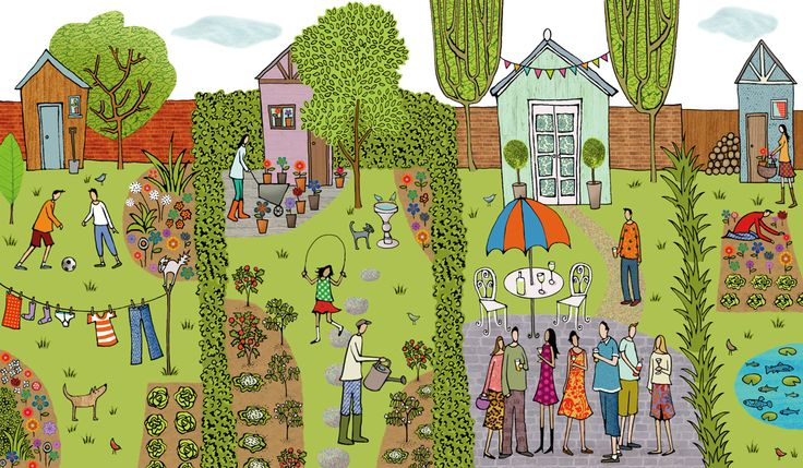 #emmabrownjohn #newdivision #illustration #digital #line #stylised #garden #character #outdoors #shed #gardening