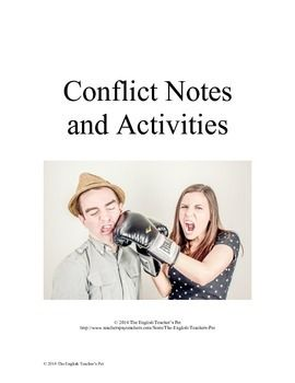 Looking for a week-long lesson on teaching conflict, a major element in fiction stories? Included in this 6 page mini-unit are introductory notes that go through different types of conflict (internal and external), break further external notes down into person vs.
