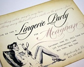 lingerie party invite