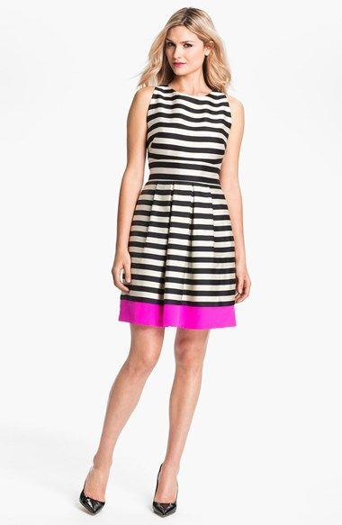 Eliza J Stripe Crepe Dress