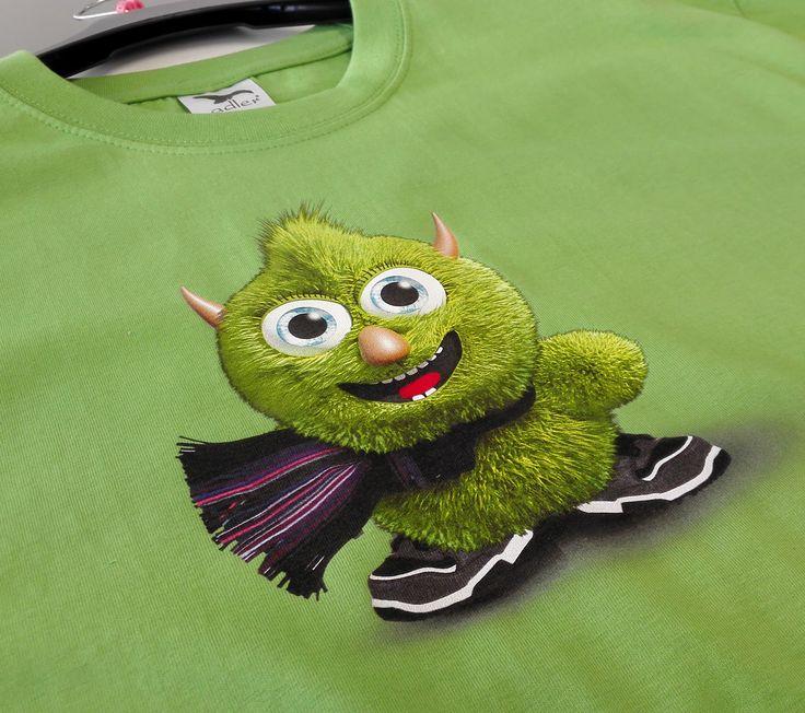 Farebné tričko s plnofarebnou potlačou