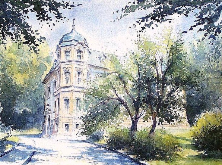 Edyta Nadolska Watercolor Art - 'Dekert Museum', Gorzow, Poland, 2015.