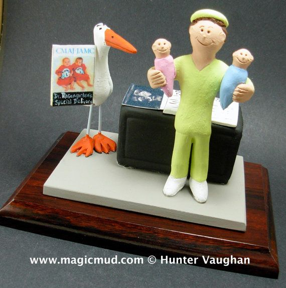 Baby Doctor's Figurine  www.magicmud.com    1 800 231 9814    magicmud@magicmud.com $225  Personalized #Medical Gift Figurines, custom created just for you!    Perfect present for all #Doctors, a  heartfelt gift for birthdays, graduations, anniversaries, new office openings, retirement, as a thank you to a great #physician  Surgeon, cardiologist, therapist, nurse, ob-gyno, podiatrist, psychiatrist, nephrologist, urologist, radiologist, any occupation made to to order by #magicmud