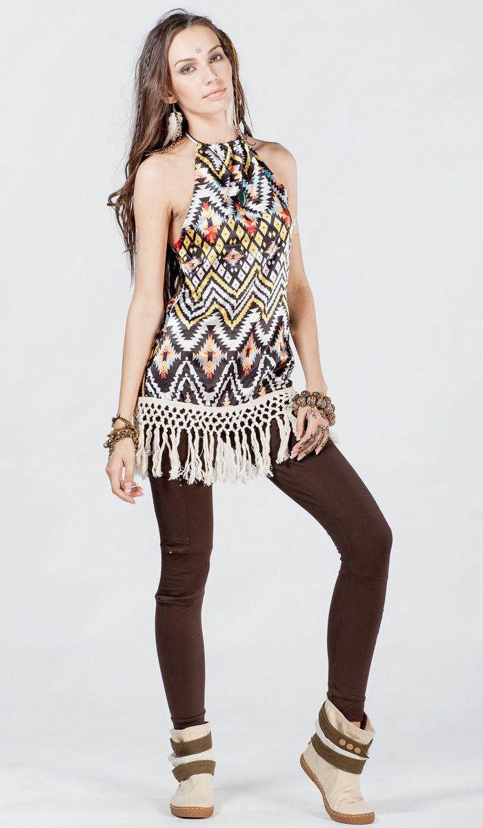 Этническое платье-туника, платье в стиле бохо, платье с бахромой, boho dress, dress bohemian style, 2380 рублей