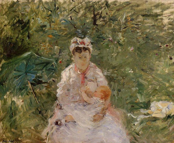 Berthe Morisot (1841-1895) - The Wet Nurse Angele Feeding Julie Manet - 1880 ca. - Private collection