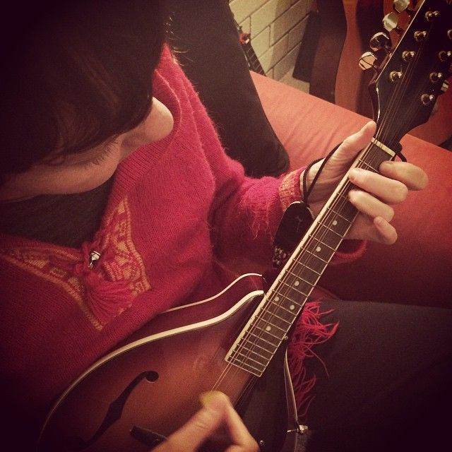 Strumming a new fae tune. #creative #kids #music #fairytales www.willywagtails.com