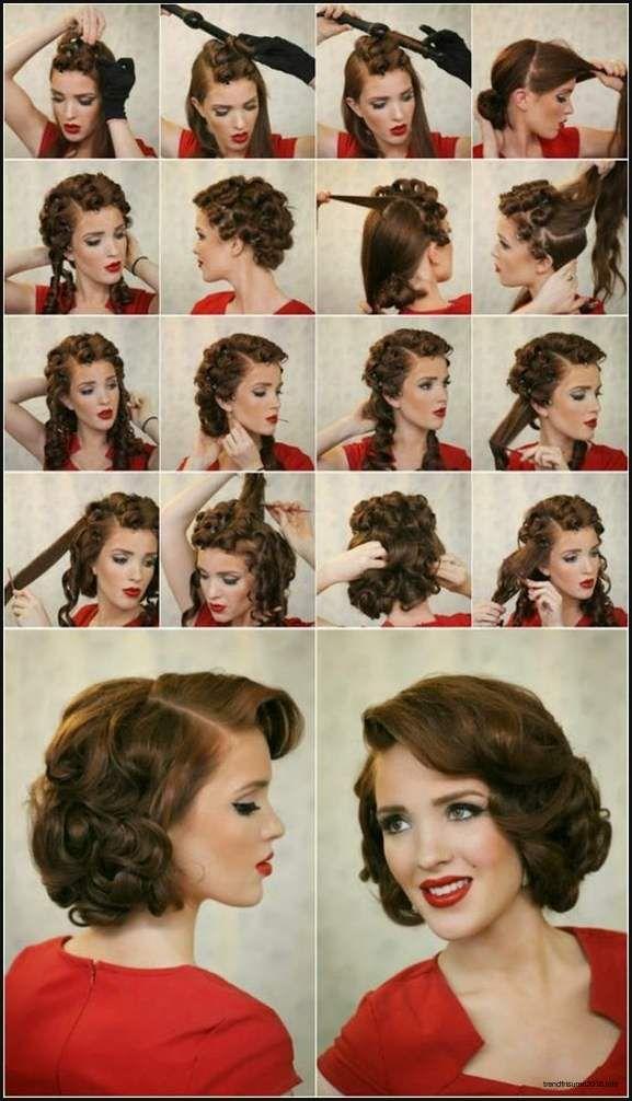Luxus Rockabilly Frisur Kurz Bilder Einfache Frisuren Vintage Hairstyles Hair Styles 50s Hairstyles