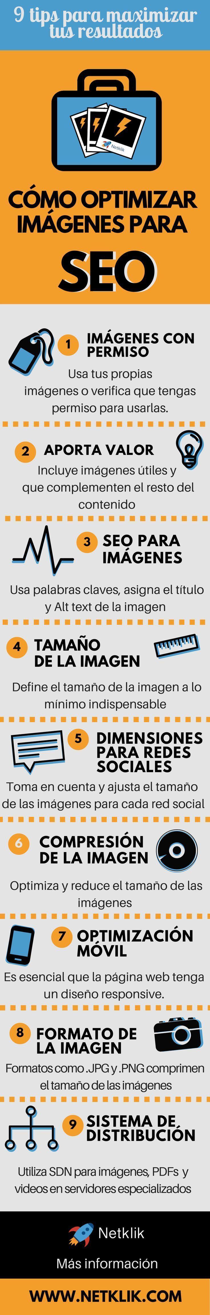 9 pasos sencillas que debes tomar para optimizar imagenes para SEO. Toma nota del paso #6 y #8.
