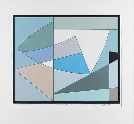 Göran Augustson: Homeros, 1998, serigrafia, 48x58 cm, edition 10/150 - Bukowskis Market 4/2016