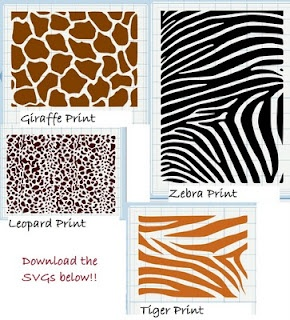 Free download to make your own animal print vinyl in your own color choices