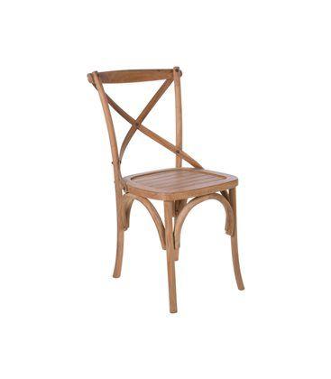 AlleEetkamerstoelen Cross teak - Echt een stoel waar je vrolijk van wordt. De Cross Teak heeft een tijdloze, landelijke en vooral heel gezellige uitstraling.