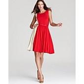 $318.50 Max Mara Studio Granada Color Block Jersey Dress with Belt