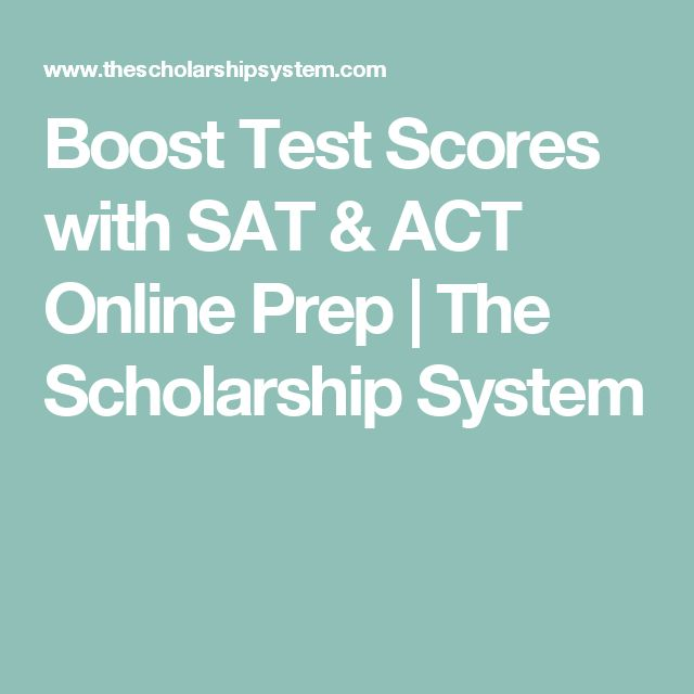 Boost Test Scores with SAT & ACT Online Prep | The Scholarship System
