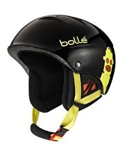 Bolle B-Kid Helmet - Shiny Black Robots The B-Kid Helmet from Bolle has been designed to take the falls kids have on the slopes with its In-Mold construction, made using a polycarbonate shell and foam liner for a lightweight shell thatapos http://www.MightGet.com/january-2017-13/bolle-b-kid-helmet--shiny-black-robots.asp