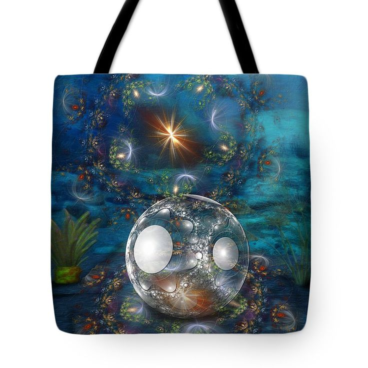 Oyster Bed Tote Bag featuring the digital art Oyster Bed 3d by Sharon and Renee…
