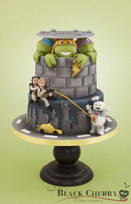 Ghostbusters Teenage Mutant Ninja Turtle Cake