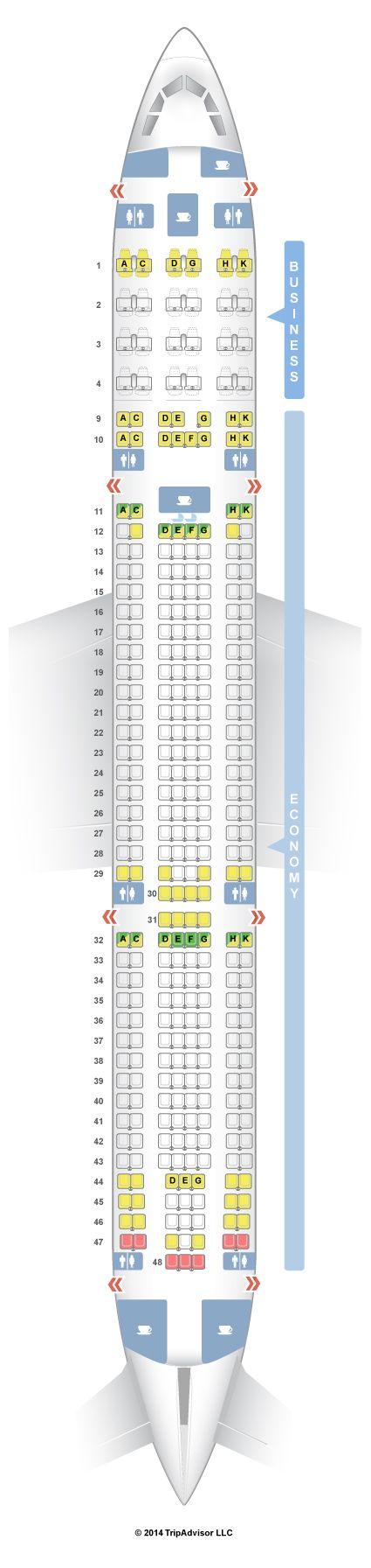 SeatGuru Seat Map Aer Lingus Airbus A330-300 (330)