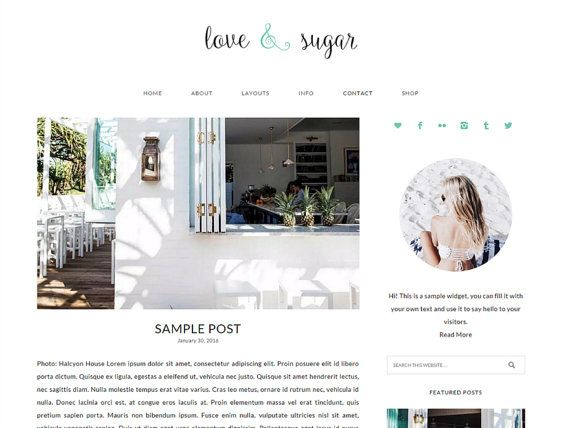 WordPress Theme, WordPress Vorlage, Responsive WordPress Theme, WordPress Theme Feminine, Genesis Thema, Blog, WordPress Thema Kindernahrung