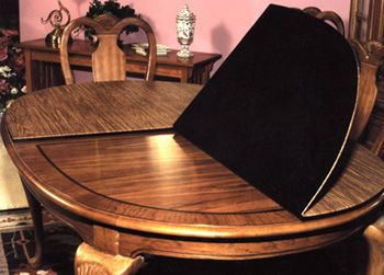table pads consist of a solid lightweight fiberboard core that is basically unaffected by humidity